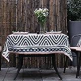 The style of simple modern cloth Tea table cloth 100?cotton table cloth Round table cloth Table runner-A 140x260cm(55x102inch)