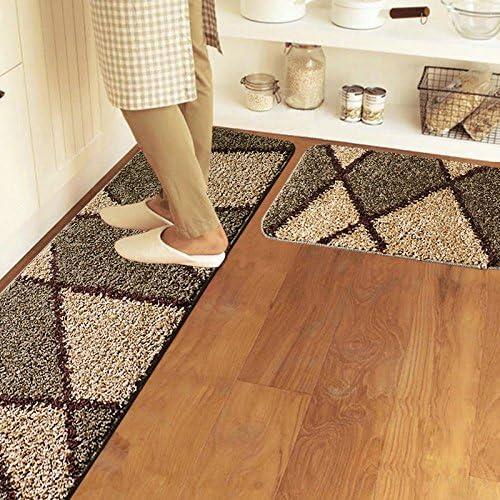 FQG * La cocina alfombrilla de suelo largo Grip Absorción de agua ...