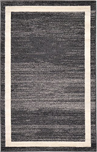 Black 3'3'x5'3' Area Rug (Over-dyed Modern Vintage Rugs Black 3' 3 x 5' 3 FT Palma Collection Area Rug - Perfect for any Place)