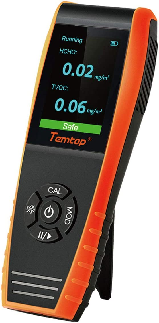 Temtop H3 Air Quality Detector Professional HCHO TVOC Real Time Monitor Audio Alarm TFT Color Screen Rechargeable