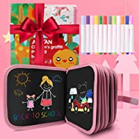 AriTan Updated Leather Surface Erasable Drawing Pad Toys(Alpaca), Magna Double-Sided Reuse PP Portable Writing Board for…