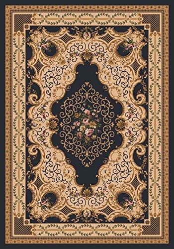 Pastiche Kashmiran Valette Ebony Rug Rug Size: 2'1