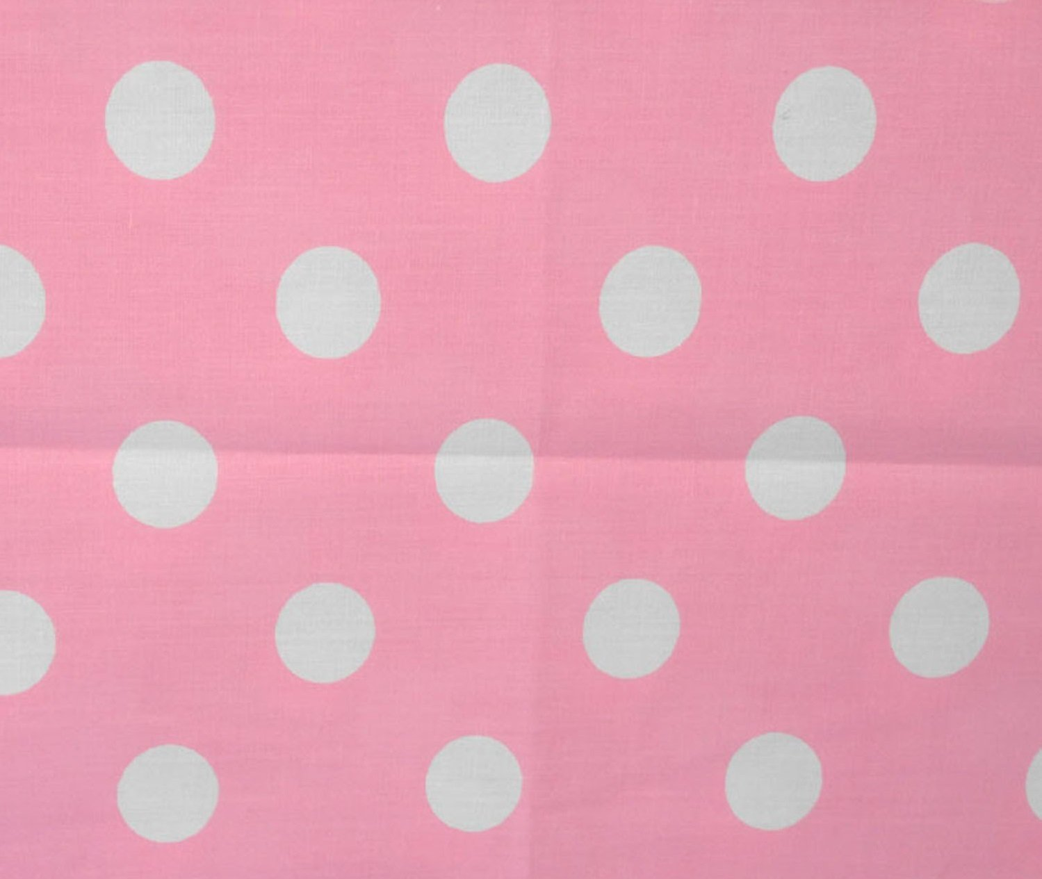 Big Polka Dot Poly Cotton White Dots on Pink 58 Inch Fabric By the Yard (F.E.つ) by The Fabric Exchange   B00J3ASUNW