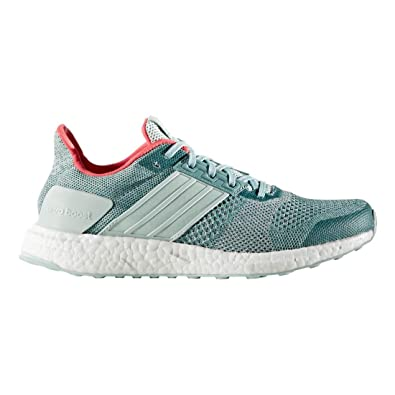 adidas Originals Women's Ultra Boost ST W Running Shoe, Vapour Green/Chalk White/
