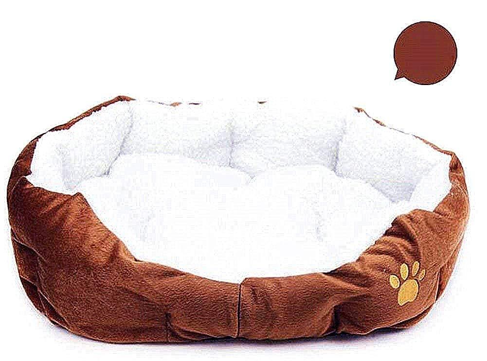 Wakerda Deluxe - Cesta de Cama para Perro con Forro Polar Acolchado antisuciedad, tamaño 46 x 42 cm (café): Amazon.es: Productos para mascotas