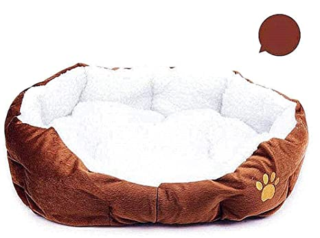 Wakerda Deluxe - Cesta de Cama para Perro con Forro Polar Acolchado antisuciedad, tamaño 46