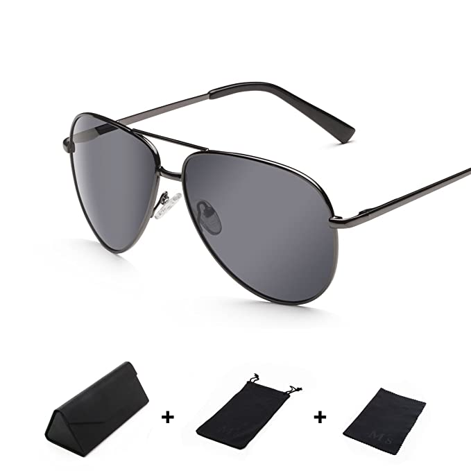 a98d58fbc64 Image Unavailable. Image not available for. Color  Ms Premium Military  Style Classic Aviator Sunglasses men
