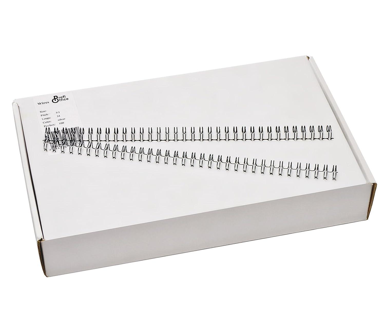 Silber 70967 3:1 Teilung 34 Ringe ProfiOffice/® Drahtbinder/ücken 12,7 mm