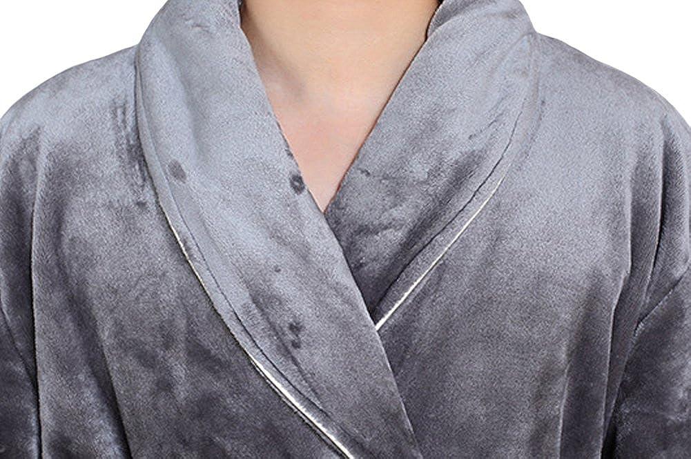 Long Spa Flannel Soft Warm Kimono Bathrobe Genda 2Archer Mens Robe