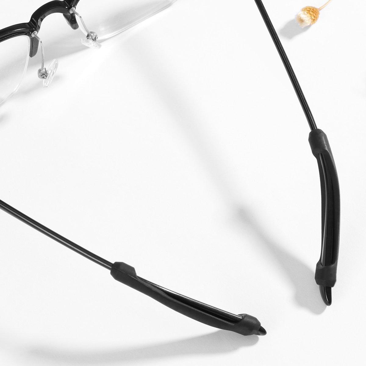 5 pares de ganchos de cristal para gafas etc. negro orejas gafas Healifty