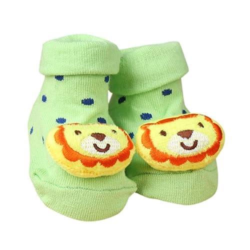koly Calcetines de algodón de dibujos animados calcetines calcetines de bebé piso de los niños antideslizantes