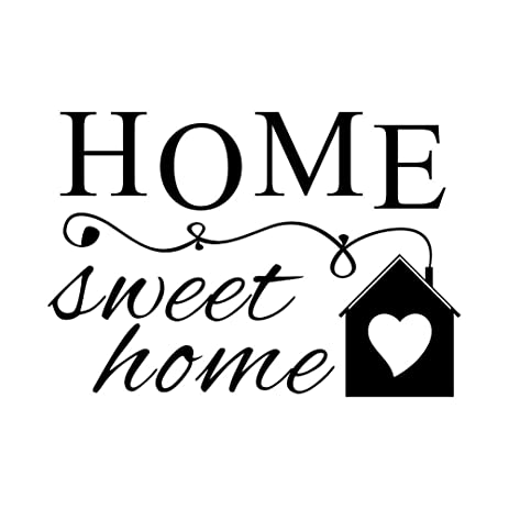 home sweet home vinyl wall quotes stickers sayings home art decor decal 16 wide