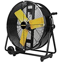 Master PROFESSIONAL High Velocity Floor Fan, 24-inch, 2 Speed, 4,000 CFM, OSHA Compliant - MAC-24DCT