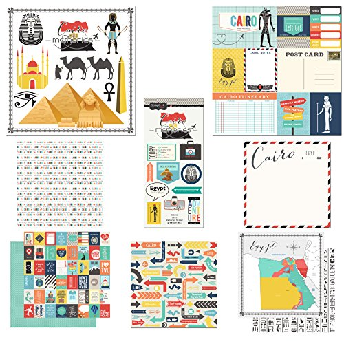 (Scrapbook Customs Themed Paper and Stickers Scrapbook Kit, Cairo City Memories)
