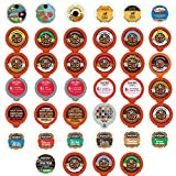 Flavored Coffee Recyclable Single Serve Cups For Keurig K Cup Pod Brewers Variety Pack Sampler, 40 Count offers