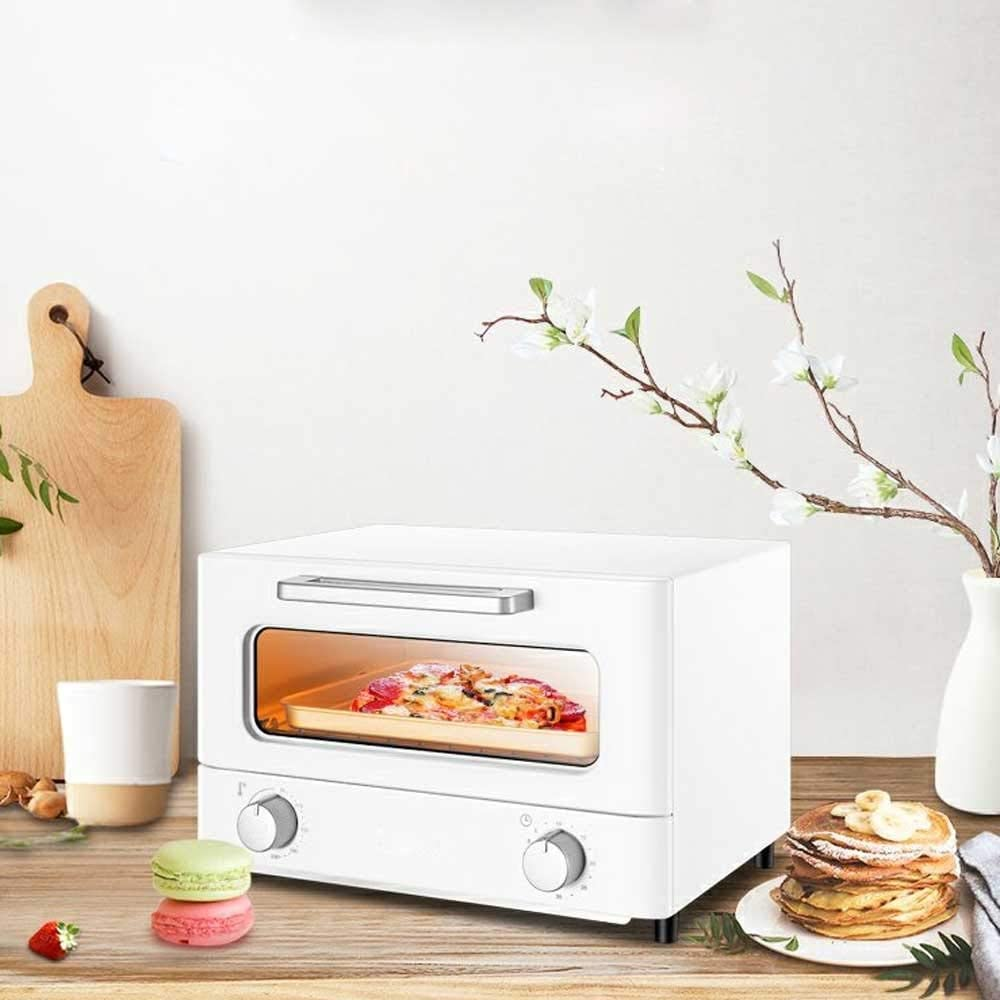 NSHUN Infrared Light Heating Oven, Grill Oven Smart Toaster Household Countertop Combi Steamer Multi-Function Small Automatic Home Oven, Blue (Color : White)