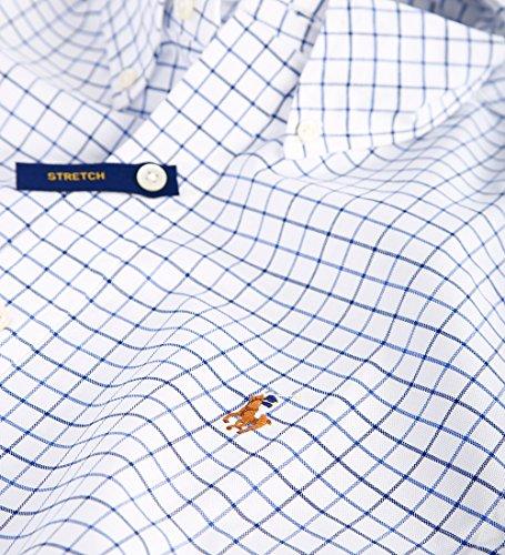 Polo Ralph Lauren Herren Hemd slim fit Stretch Oxford white/blue Größe S