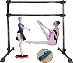 Marfula Ballet Barre Bar Portable Freestanding with Carry Bag, Stretch Band and Turning Board