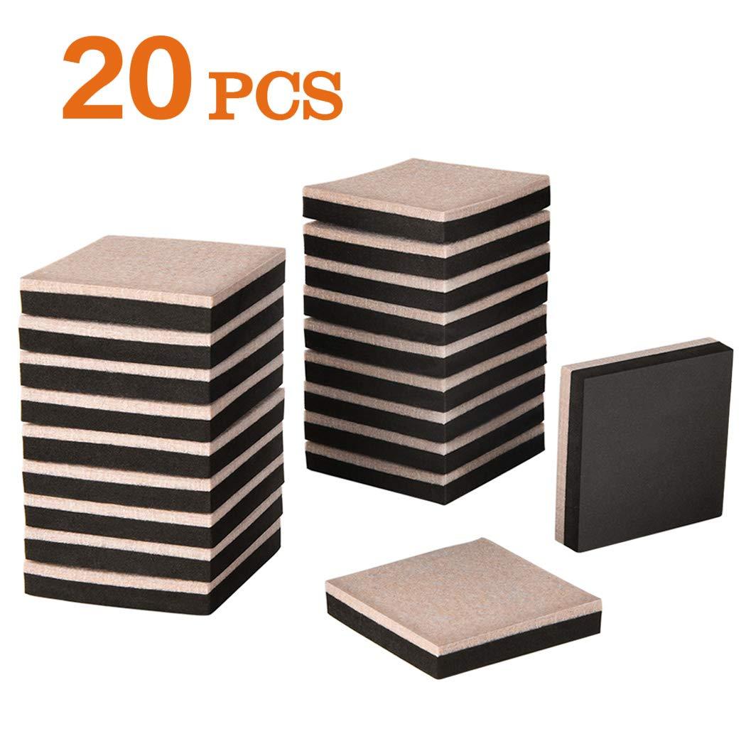 Furniture Sliders Ezprotekt 4PCS 3.5'X 6' Inch Felt Sliders & 4PCS Self-Stick Furniture Pads Protect for Hardwood Floors and Other Hard Surfaces Furniture Moving Pads Reusable Furniture Slider