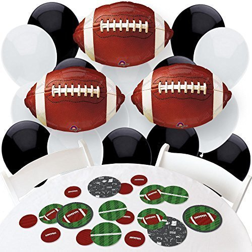End Zone - Football - Confetti and Balloon Baby Shower or Birthday Party Decorations - Combo - Mylar Football Balloon