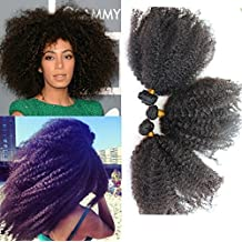 """Unprocessed 12""""-20'' Virgin Mongolian Afro Kinky Curly Human Hair Extensions for Black Women (16"""")"""