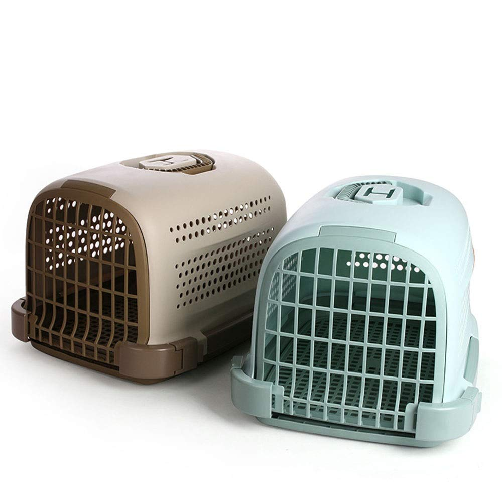 Brown HUAyue Commodious for Travel, Pet Air Box Out Portable Cat Cage (color   Brown)