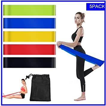 Amazon.com: Bandas de resistencia para ejercicios – ligeras ...