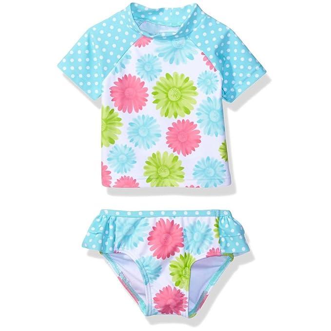 Amazon.com: kikibaby bebé niños niñas traje de baño de dos ...