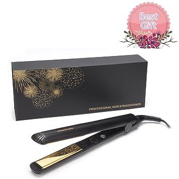 Amazon com : Flat Iron Professional Hair Straightener Nano-Titanium