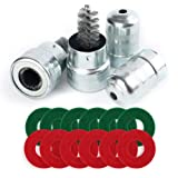 2 pcs Battery Terminal Cleaners, Plus 12 pcs Battery Terminal Anti-Corrosion Fiber Washers (6 Red & 6 Green) for Car…