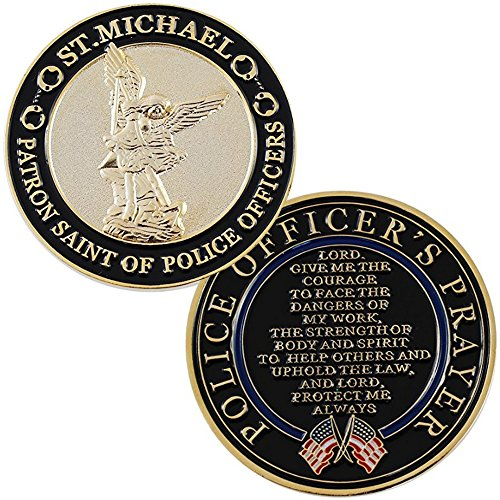 St. Michael Patron Saint of Police Officers Challenge Coin With ()