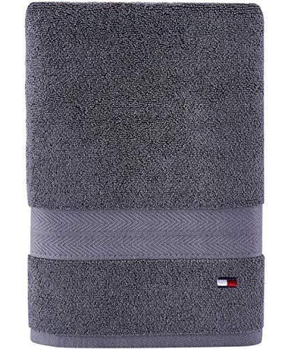 Tommy Hilfiger Modern American Bath Towel, 30 x 54 inch, Grey Violet