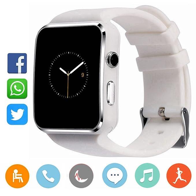 CanMixs CM03 Bluetooth Smart Watch Pulsera deportiva Soporte de SIM y tarjeta TF con cámara Sincronización de mensajes Compatible con IOS Android ...