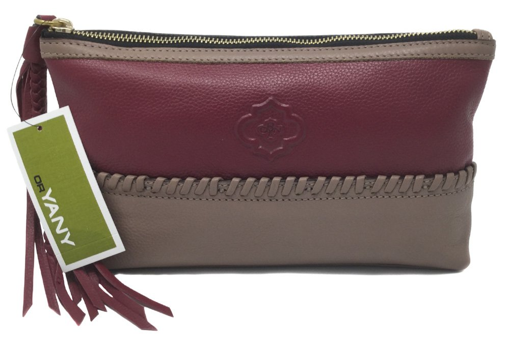 orYANY Alea Pebble Leather Pouch, Wine Multi