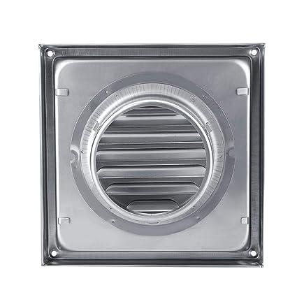 Ventilador de pared, 100 mm Ventilador de acero inoxidable Square Secador de secadora Extractor Ventilador