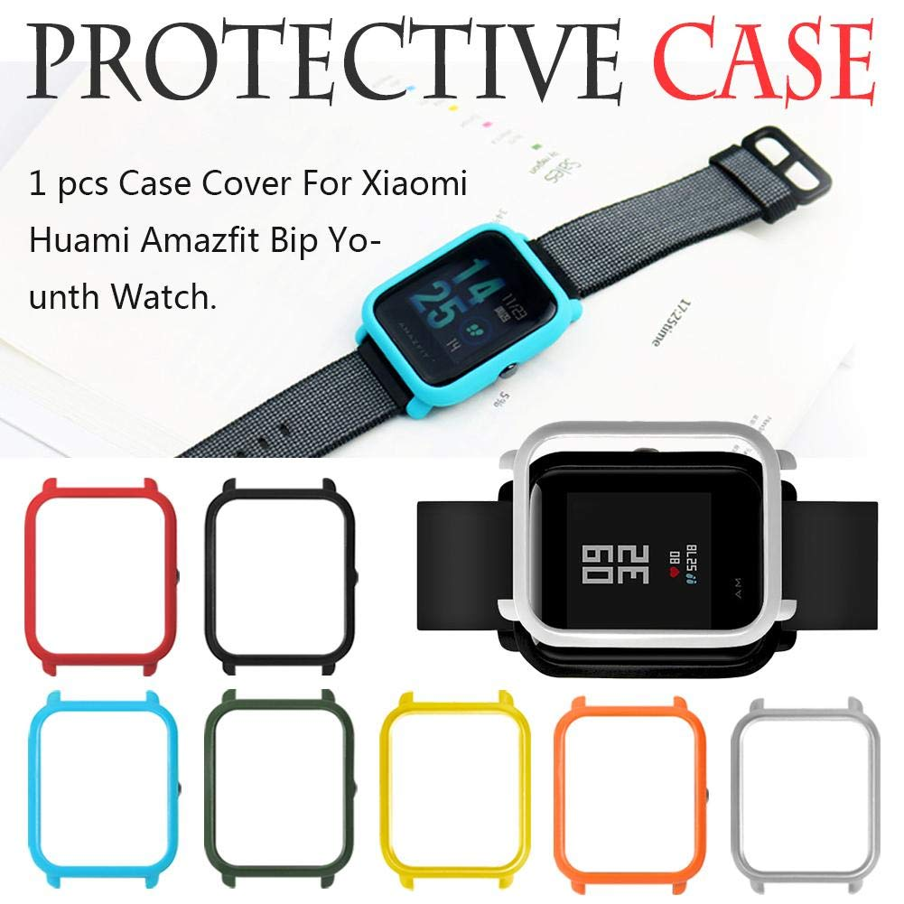 Vovi Screen Protectors Xiaomi Huami Amazfit Bip Youth Cover Protect Shell Case Smart Watch Full Protective Frame Slim Accessories Women Men Cell Phones