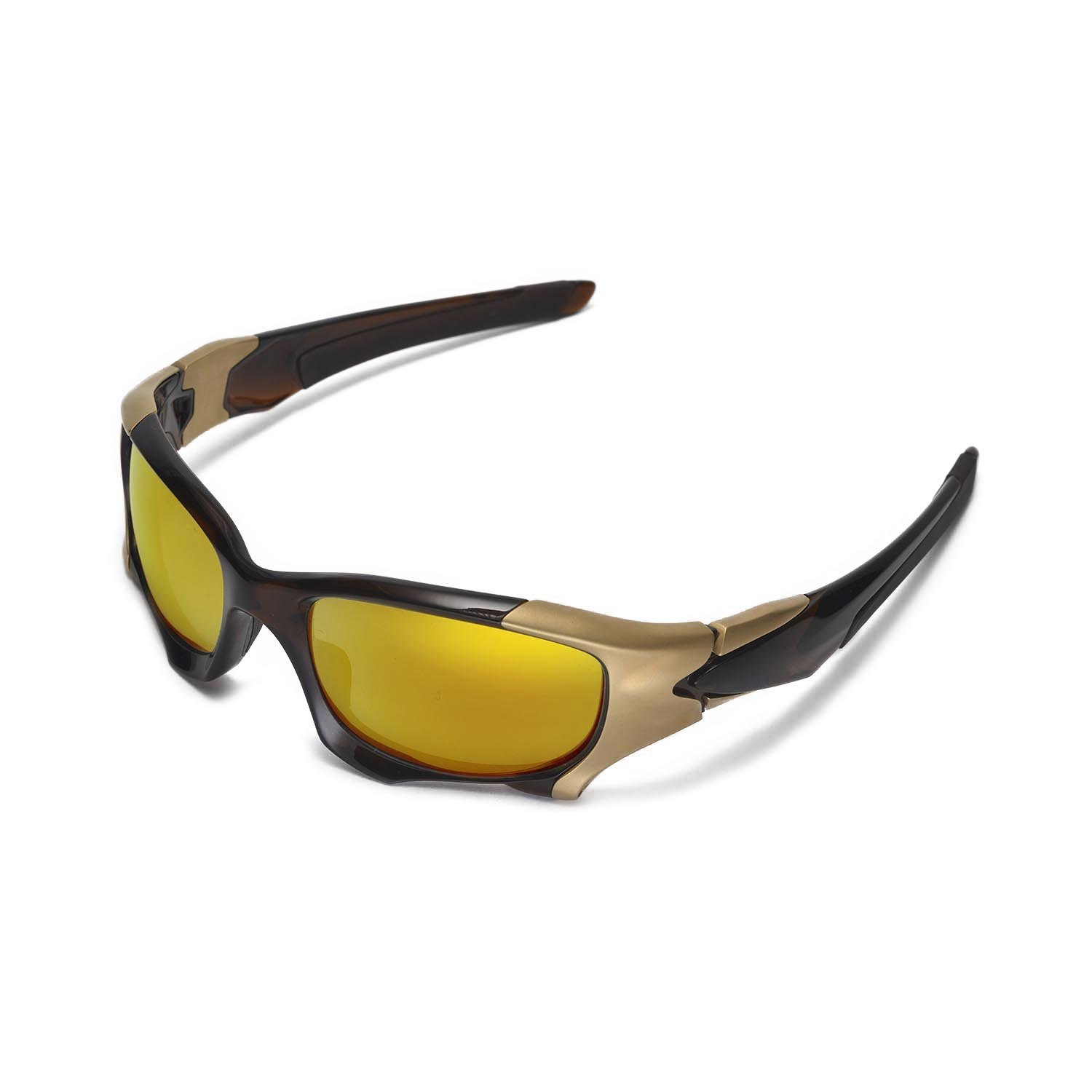 69bd03f4769 Amazon.com  Walleva Replacement Lenses for Oakley Pit BOSS II Sunglasses -  Multiple Options Available (24K Gold Mirror Coated - Polarized)  Sports    ...