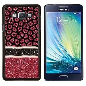 LECELL--Funda protectora / Cubierta / Piel For Samsung Galaxy A7 A7000 -- Modelo rojo Estrellas Líneas --