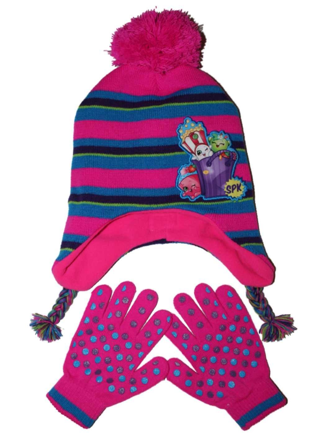 Shopkins Girls Hat and Gloves Set OSFM