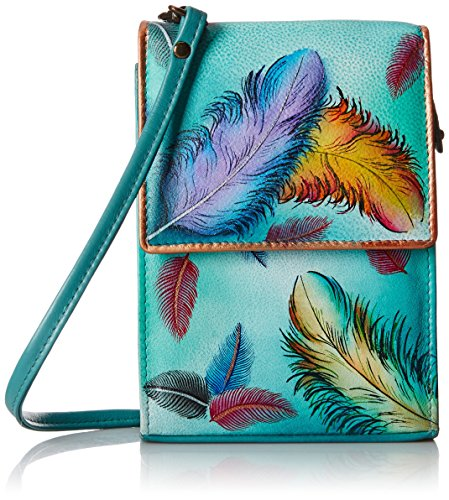 Anuschka Mini Sling Organizer FFTS, Floating Feathers, One Size by ANUSCHKA