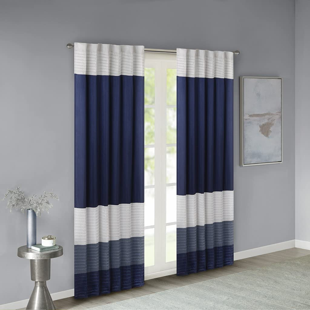 Madison Park 50x84 Amherst Faux Silk Rod Pocket Curtain $23.80 Coupon