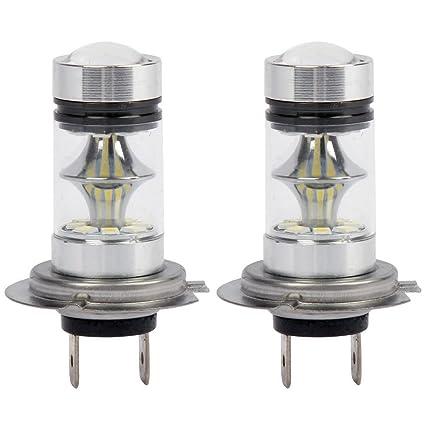 TOOGOO 1 par de Bombilla LED H7 de Alto Voltaje Luz de niebla del coche 100W
