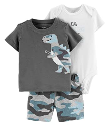 cb0692692 Amazon.com: Carter's Baby Boys' 3-Piece Little Short Sets: Clothing