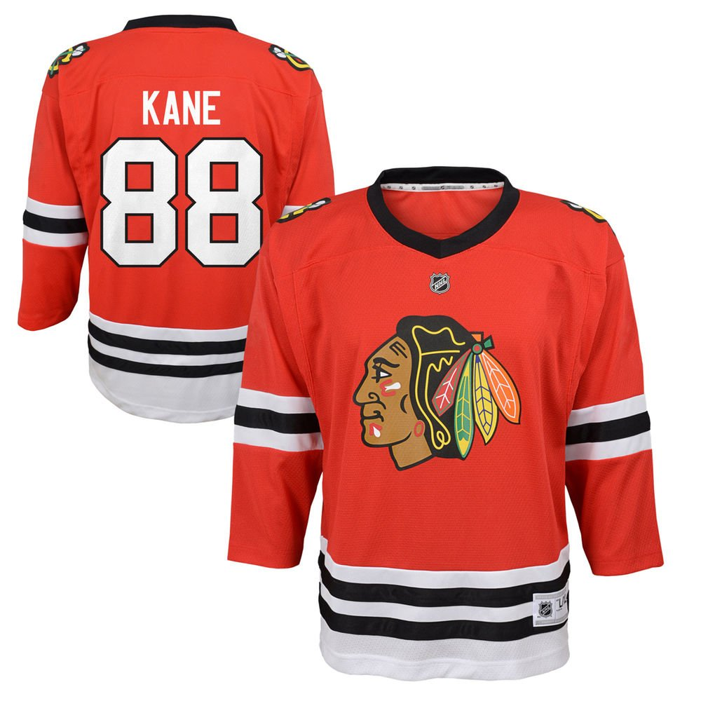 Patrick Kane Chicago Blackhawks NHL Kids 4-7 Red Replica Player Jersey