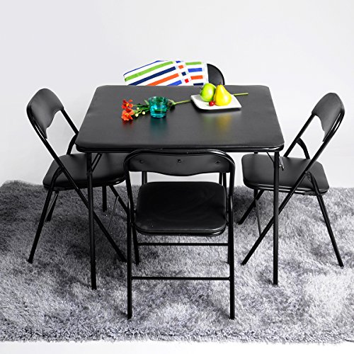 5pc Folding Table & Chairs Parties Portable Furniture Dining Set Card Poker Game - Dining Table And Chairs Set
