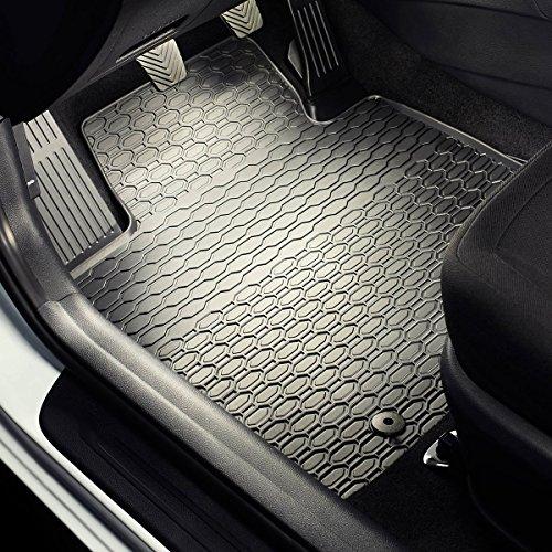 Tapis de sol caoutchouc - Set de 4 tapis de pieds - ajustement parfait - noire - 5902538447959