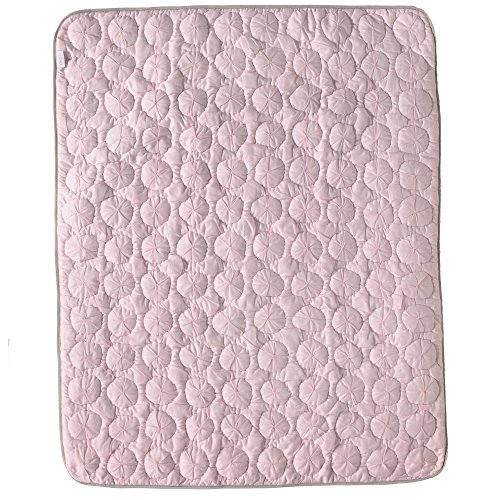 Petal Pink Pinwheel Quilted Comforter - Voile Collection