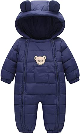 143c3ce84 Amazon.com  Ohrwurm Infant Toddler s Onesie Down Jacket Baby Cute ...