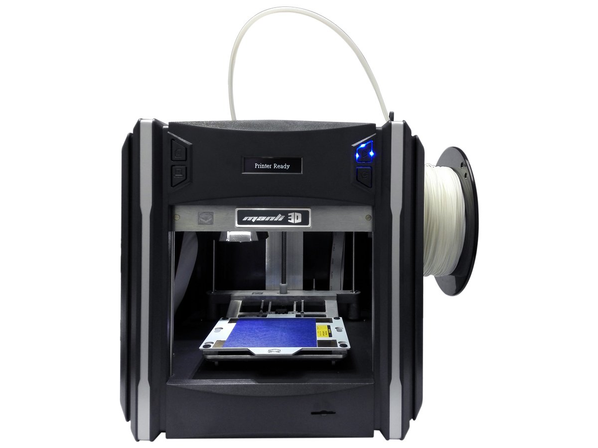 Manli MiniPrint 3D Wireless Color 3D Printer, Includes Micro SD Card, SD Card Adapter and Sample PLA Filament (M-P2000-G) Grey