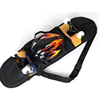 1 Skateboard Carry Bag Skate Longboard Travel Backpack Straps Carrier with Mesh by YOYOSTORE